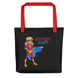 Super Mom Black Tote bag