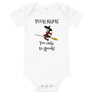 Baby Halloween Witch Bodysuit - with YOUR NAME on it! - Make It Personalized!