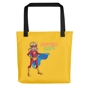 Super Mom Yellow Tote bag