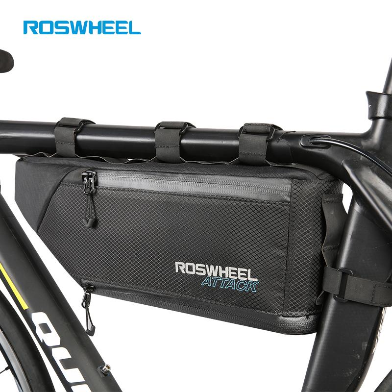 ROSWHEEL Bicycle bags Bike head front tube bag Full waterproof nylon Tail saddle bags  panniers ATTACK SERIES