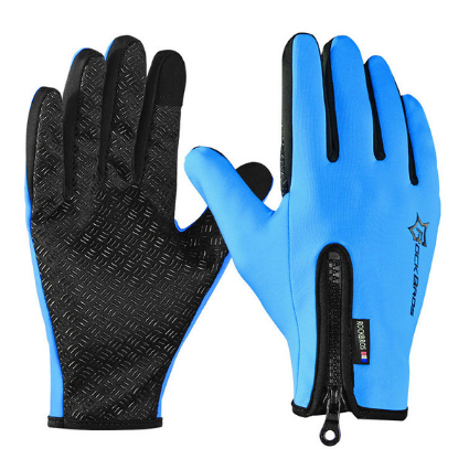 RockBros  Winter Windproof Warm Cycling Full Finger Gloves Outdoor Sports MTB Bike Bicycle Skiing Touch Screen