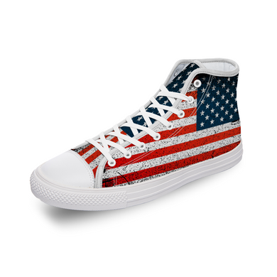 American Flag Comfortable Canvas High Top Shoes for Men & Women - RKW Designs Online Marketplace