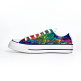 Tie Dye Unisex Canvas Sneakers Fashion Low Top Lace up Canvas Sneaker Casual Shoes - RKW Designs Online Marketplace