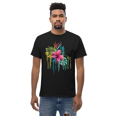 Floral Men's Heavyweight Tee (add your own logo or graphic) - RKW Designs Online Marketplace