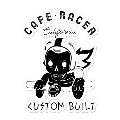Cafe Racer Custom Built Bubble-free stickers - RKW Designs Online Marketplace