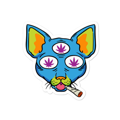 Stoned Cat Bubble-free stickers - RKW Designs Online Marketplace