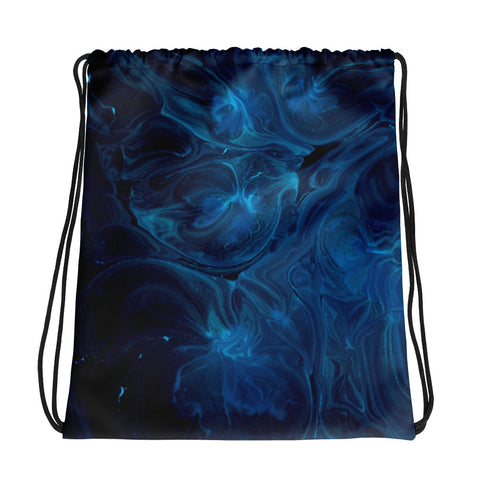 Blue Smoke Drawstring bag - RKW Designs Online Marketplace