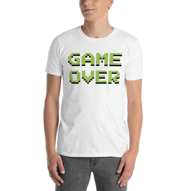 Game Over Short-Sleeve Unisex T-Shirt (add your own text) - RKW Designs Online Marketplace