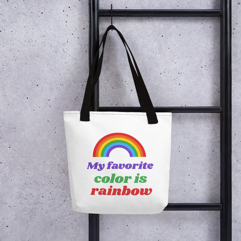 My Favorite Color is Rainbow Tote bag - RKW Designs Online Marketplace
