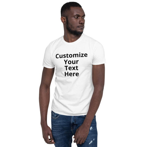 Short-Sleeve Unisex T-Shirt (add your own text) - RKW Designs Online Marketplace