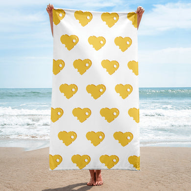 Cheese Heart Beach Towel - RKW Designs Online Marketplace