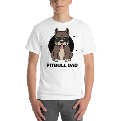 Pitbull Dad Short Sleeve T-Shirt (add your own logo or graphic) - RKW Designs Online Marketplace