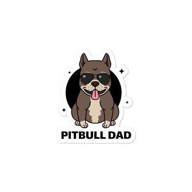 Pitbull Dad Bubble-free stickers - RKW Designs Online Marketplace