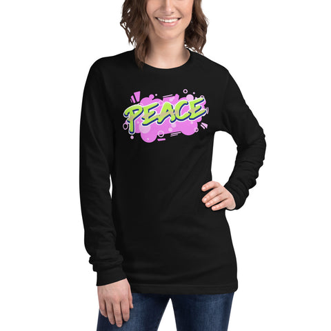 Peace Unisex Long Sleeve Tee (add your own logo or graphic) - RKW Designs Online Marketplace