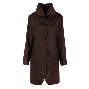 Open image in slideshow, High Neck Cloth Coat