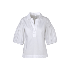 Open image in slideshow, Camisa Blanca Cuello Redondo