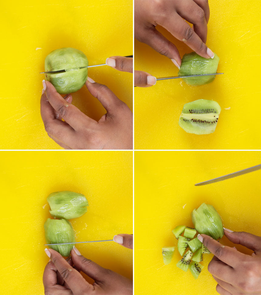 How to Slice Kiwi in Cubes