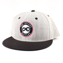 Load image into Gallery viewer, The Afters Logo Gray/Black Flat Bill Cap