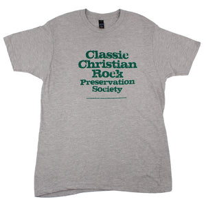 Classic Christian Rock Preservation Society Tee (Grey)