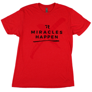 Miracles Happen Tee (Red Heather)