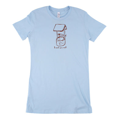 I Wish You Well Ladies Tee (Light Blue)