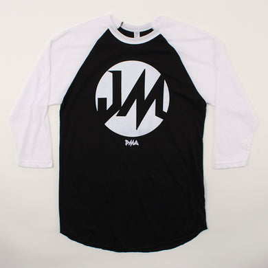 Baseball Tee (Black/White)