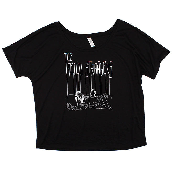 Ladies Album Cover Logo Bella Tee (Black)