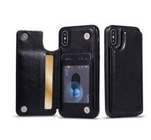 Load image into Gallery viewer, LUXURY RETRO LEATHER CARD SLOT HOLDER COVER CASE FOR IPHONE