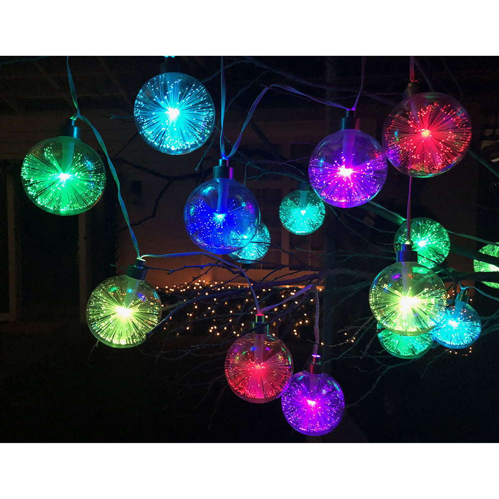 Light Show Ornament Strand (Fiber-Optic Illuminated Globes)