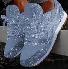 Load image into Gallery viewer, Women's Crystal Platform Sneakers