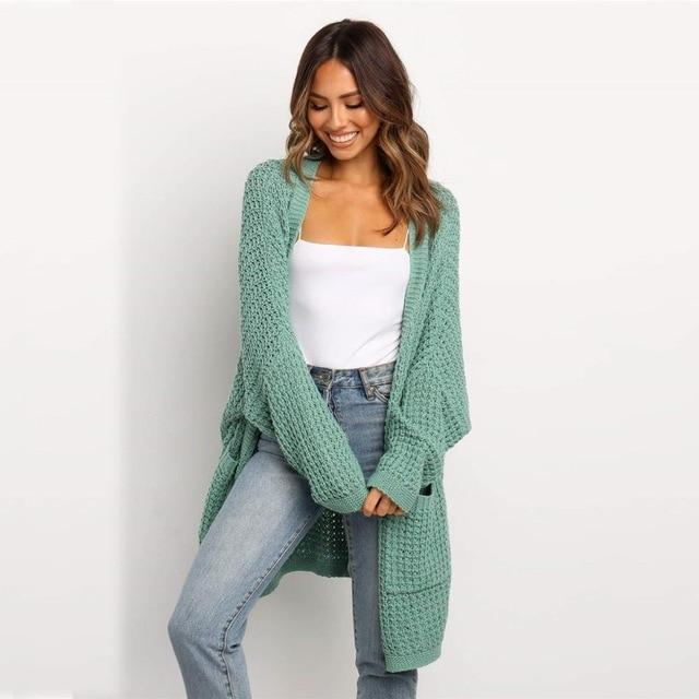 Long and Loose Knitted Cardigan