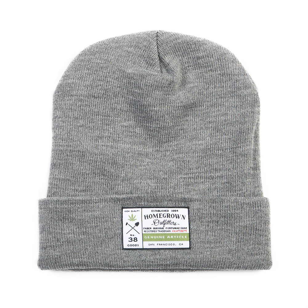 Genuine article beanie - Heather Gray