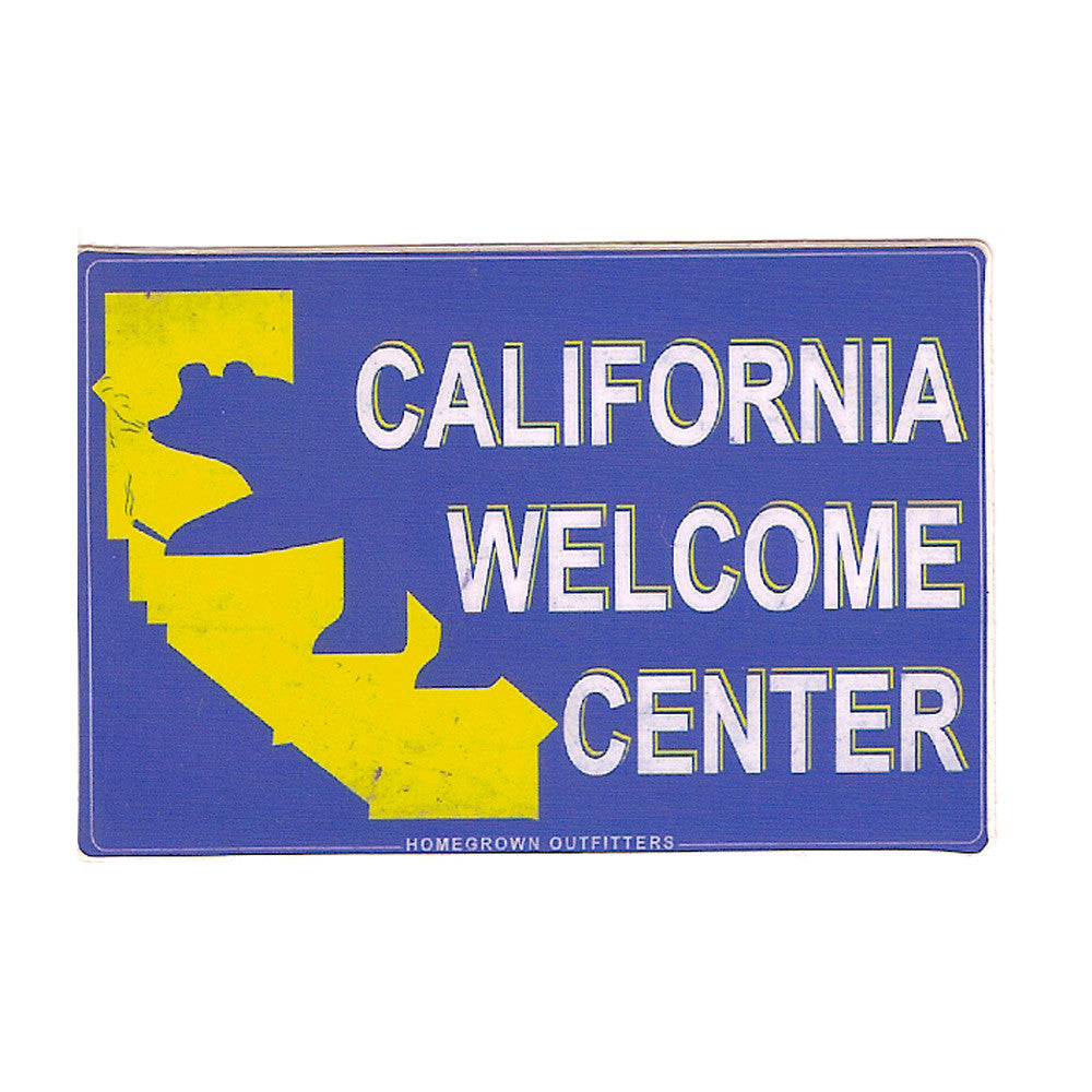 Cali Welcome Center Sticker