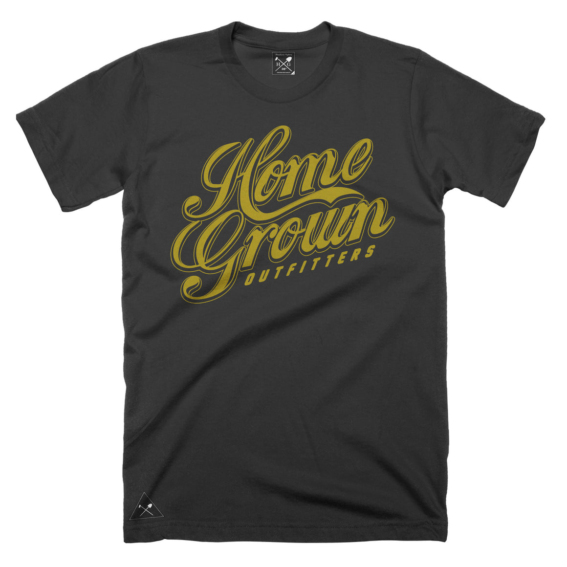 Gold Rush script t-shirt - Black