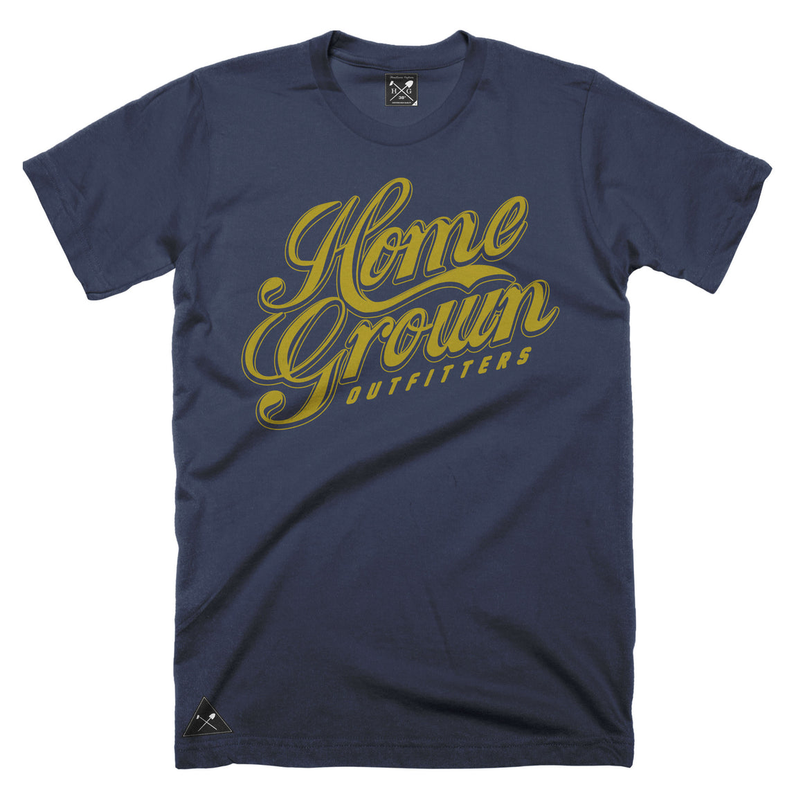 Gold Rush script t-shirt - Navy Blue