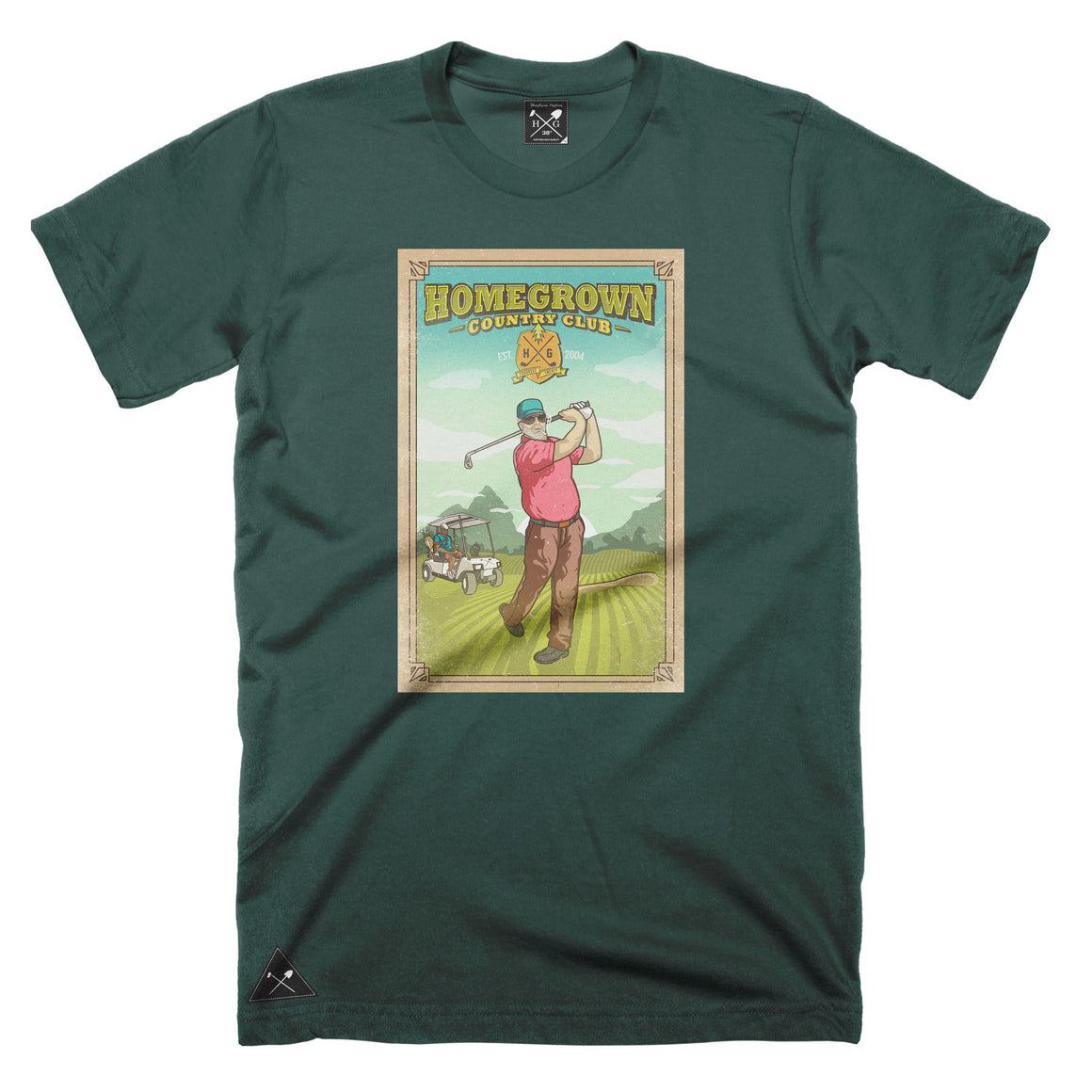 HG Country Club T-shirt - Forest Green