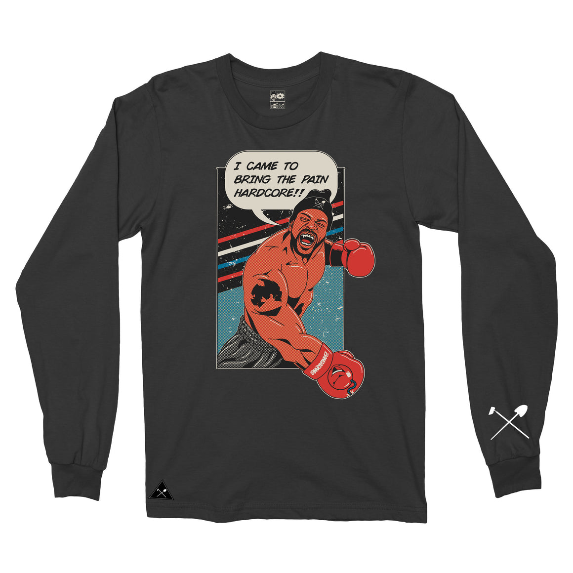 Homegrown x Method Man x Bangarang - Bring Da Pain Long sleeve T-shirt - Black