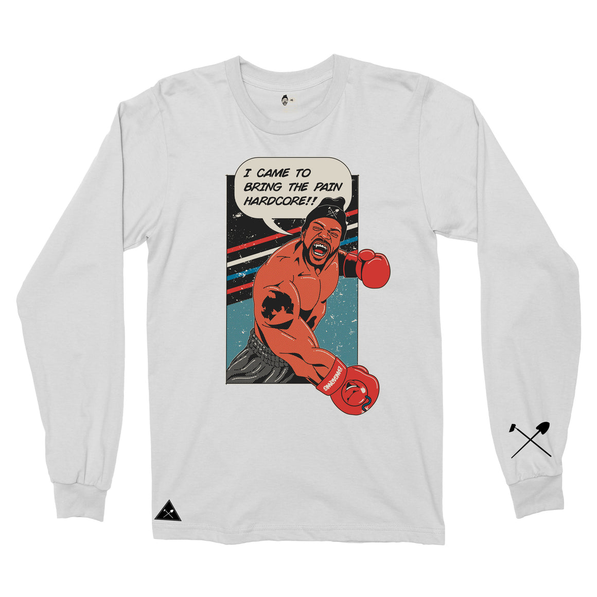 Homegrown x Method Man x Bangarang - Bring Da Pain Long sleeve T-shirt - White