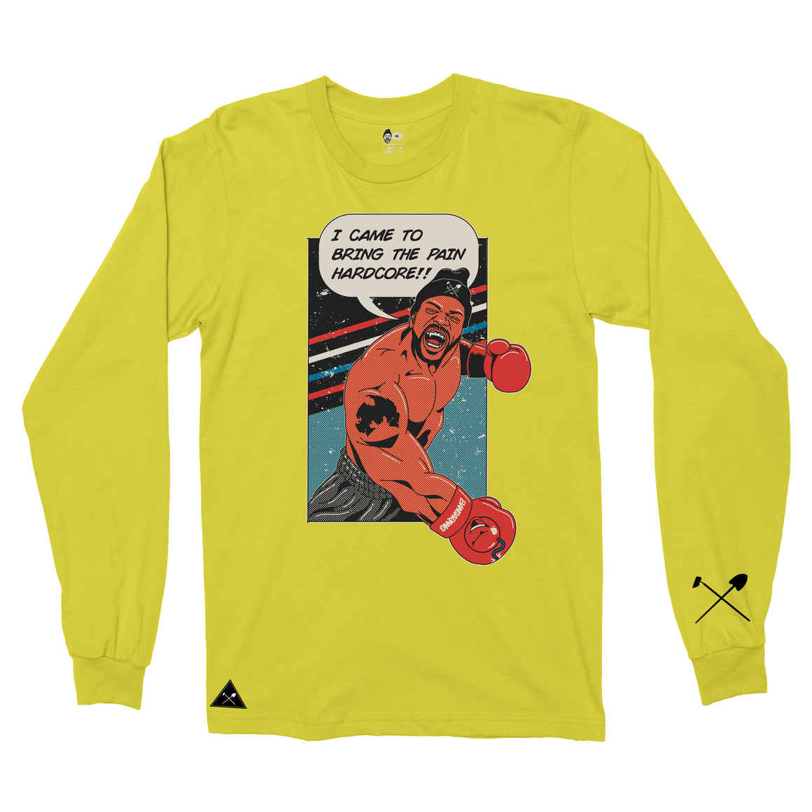Homegrown x Method Man x Bangarang - Bring Da Pain Long sleeve T-shirt - Yellow