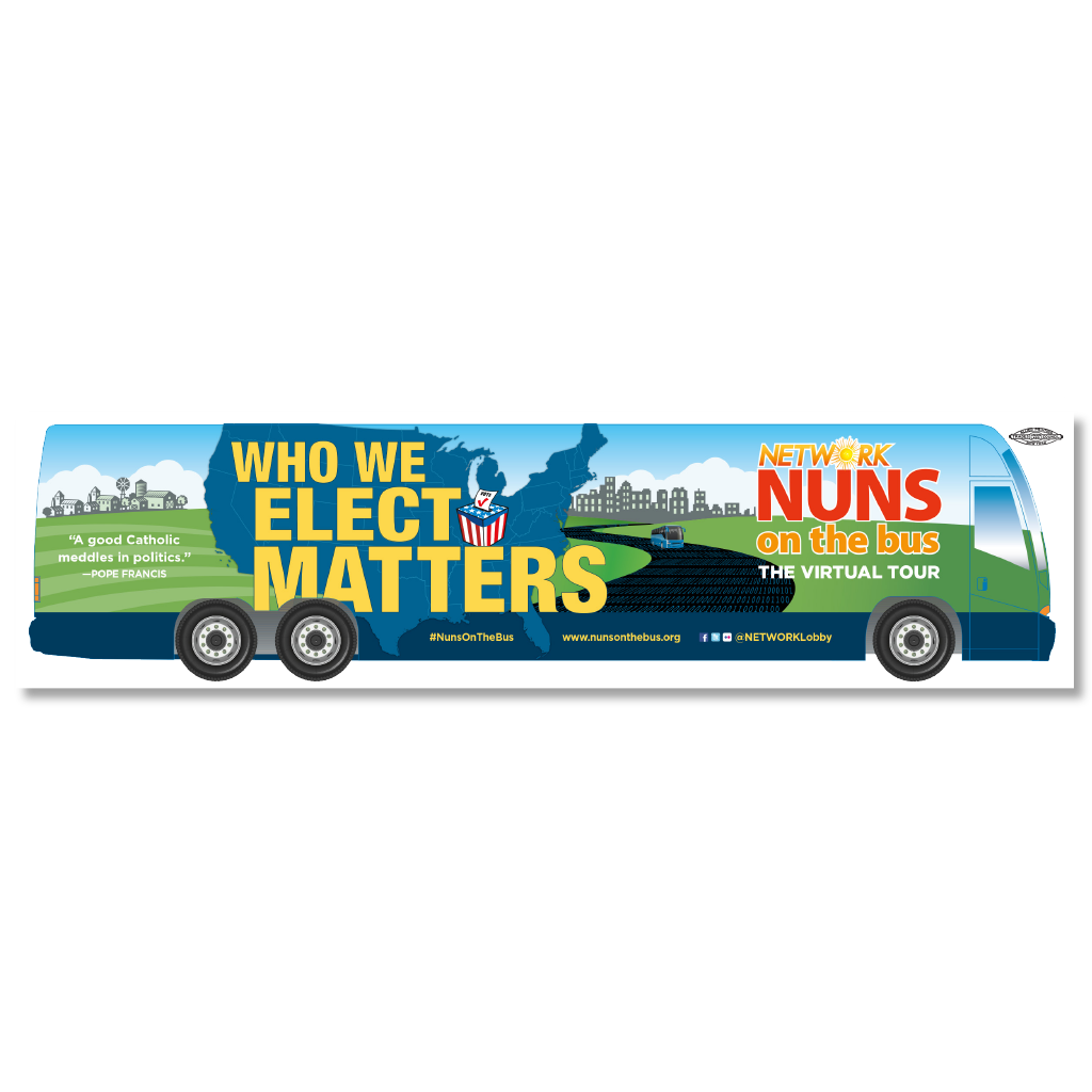 Nuns on the Bus/Who We Elect Matters Bumper Sticker