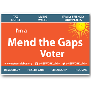 Placard - I'm a Mend the Gaps Voter