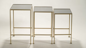 French Maison Ramsay brass nesting tables 1960s