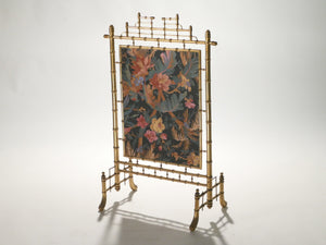 Faux bamboo French decorative fire screen 1970s