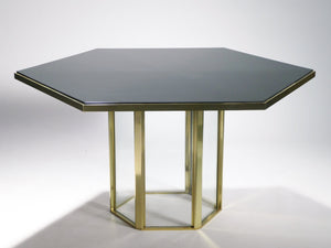 Romeo Rega brass and lacquer dining table 1970's