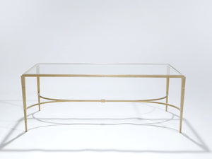 Maison Ramsay gilt wrought iron coffee table 1960s