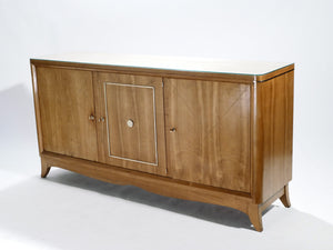 French modernist cherrywood brass sideboard 1950s