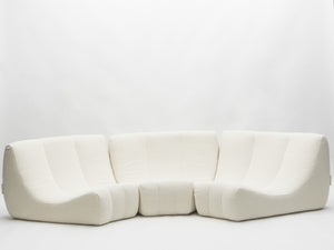 Rare Mid Century Circle Sofa by Michel Ducaroy model Gilda 1972