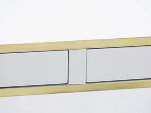 J.C. Mahey white lacquer and brass console 1970s