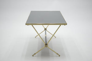 Raphaël brass and opaline coffee table 1960's