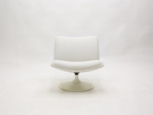 Geoffrey Harcourt for Artifort F504 swivel lounge chair bouclé 1960s